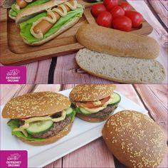 Your share text Hamburger, Fitt, Salmon Burgers, Food And Drink, Bread, Ethnic Recipes, Brot, Baking, Burgers