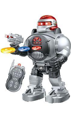 Thinkgizmos Remote Control Robot Fires Discs, Dances, Talks - Super Fun RC Robot Best Price