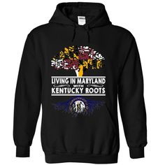 Living in Maryland with Kentucky Roots, Order HERE ==> https://www.sunfrog.com/States/Living-in-Maryland-with-Kentucky-Roots-spwfuqxbob-Black-Hoodie.html?89701, Please tag & share with your friends who would love it , #christmasgifts #renegadelife #superbowl