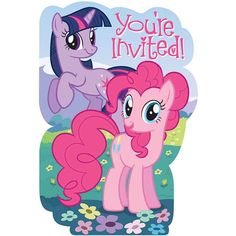 My Little Pony Friendship Invitations 8ct