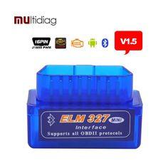 ELM327 Bluetooth Auto Diagnostic Tool v1.5 ELM 327 diagnostic-tool obd2 Car Code Scanner OBD 2 OBDII Scaner Automotivo v 1.5
