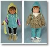 "Site has lots of knitting and crachet patterns for 18"" dolls"