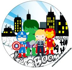 Make into a Christmas Ornament (OB) Hulk Spiderman, Hulk Marvel, Lego Marvel, Superman, Hero Of The Day, Avenger Cake, Chibi, Avengers Birthday, Round Labels