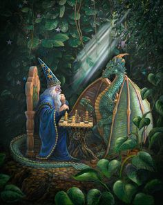 Merlin and Dragon Chess 2015 by Marjorie Sarnat