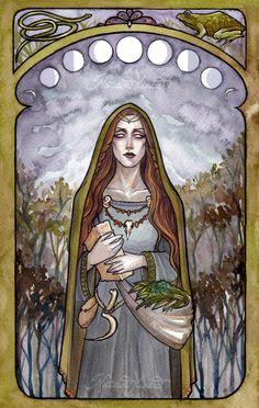The Healer watercolour  www.natasailincic.com