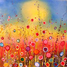 Yvonne Coomber stunning colourful glitter wildflower paintings are available at www.yvonnecoomber.com