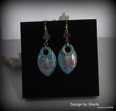 Hand Painted Earrings – Mermaids Web