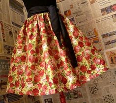 Full Vintage Style Roses Skirt, ALL SIZES £30.00