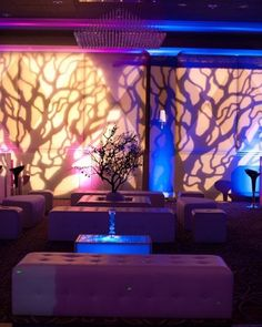 Amazing tree branch inspired #gobo for this cool #event !: #partyfavoritesblog