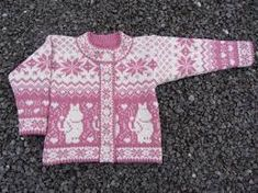 Moomin Knitting Pattern : Wool knitted cardigan with moomin pattern for by daysiknits Fair Isle Knitting Patterns, Knitting Designs, Baby Patterns, Knit Patterns, Knit Slouchy Hat Pattern, Crochet Baby, Knit Crochet, Newborn Knit Hat, Crochet Books