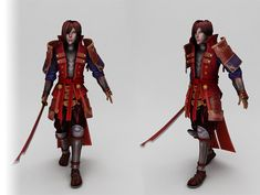 This is a high poly character inspired by Japanese samurai, can be used for online games. The maps are 2048x2048 bmp. Comes with the diffuse, normal, spec and opacity for both body and weapon.  Animation include Idle - Walk - Run - Attack