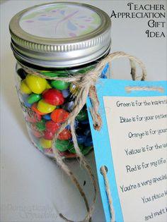 Teacher Appreciation Gift Idea w/Printable