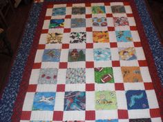 I Spy Quilt made with disappearing nine patch.