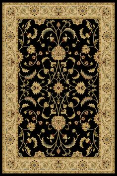 Central Oriental Interlude Atelier Black Area Rug #accessfurniture