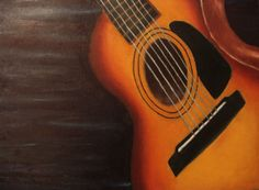 """""""Guitar"""" (Acrylic on canvas painting) Made by one of our talented teens."""