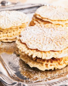 Italian Pizzelle recipe. #Christmas #cookies
