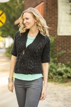 Free Knitting Pattern - the Architecture Cardigan in Universal Yarn Superwool