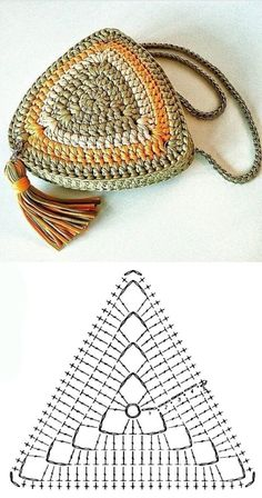 Copie e lucre: Bolsa pequena de fio de malha ⋆ De Frente Para O Mar - Knitting for beginners,Knitting patterns,Knitting projects,Knitting cowl,Knitting blanket Crochet Motifs, Crochet Diagram, Crochet Chart, Crochet Stitches, Crochet Handbags, Crochet Purses, Crochet Bags, Free Crochet Bag, Knitting Patterns