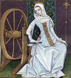 Evrart de Conty -Le livre des échecs amoureux moralisés(c. 1401).  Wheel of Fortune.