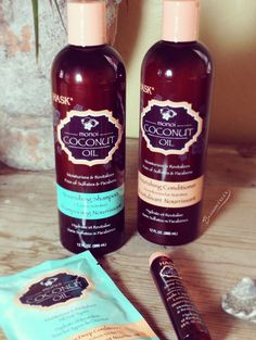 Review: Hask Monoi Coconut Oil Hair Care Collection - shampoo, conditioner, deep conditioner and shine treatment oil