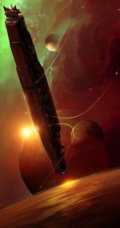 Tagged with rpg, scifi, scifiart, coriolis, freeleague; Coriolis - An inspirational RPG dump Arte Sci Fi, Sci Fi Art, Landscape Concept, Fantasy Landscape, Landscape Design, Sci Fi Fantasy, Fantasy World, Space Fantasy, Sci Fi Kunst