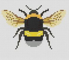 Latest Photo knitting charts bee Suggestions Bumble Bee – Cross Stitch, Graphghan Crochet or Intarsia knitting pattern – pdf pattern Bum Cross Stitch Love, Cross Stitch Animals, Modern Cross Stitch, Cross Stitch Designs, Bee Embroidery, Cross Stitch Embroidery, Embroidery Patterns, Mochila Crochet, C2c Crochet