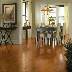 Armstrong - Bruce - Gunstock Oak Wood flooring (for stairs and gameroom)