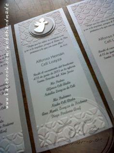 Tarjetas para recuerdo de bautizo. Koté Handmade by Silvia Alvarez: