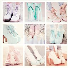 Pastel Goth Shoes!