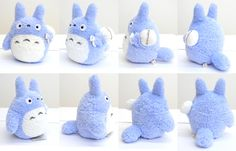 Totoro Blue fluffy plush toy - 8.5 inches