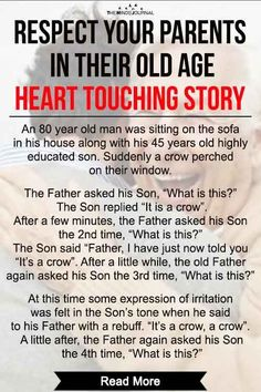 Love and Respect Your Parents In Their Old Age - Heart Touching Story