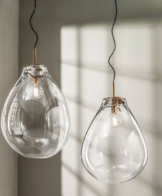 Hand Blown Glass Pendant Lights Unconvincing Light Fixtures New Pendants By Interior Design 8 Interior Lighting, Home Lighting, Pendant Lighting, Pendant Chandelier, Light Fittings, Light Fixtures, Blown Glass Pendant Light, Glass Pendants, Blown Glass Chandelier