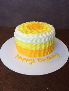 Lemon cake with cream cheese buttercream.