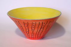 The History of Dots by Farhana & Rod Arts. American Made. See the designer's work at the 2015 American Made Show, Washington DC. January 16-19, 2015. americanmadeshow.com #bowl, #ceramic, #pottery, #dots, #americanmade