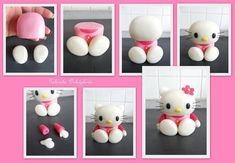 DIY Polymer Clay (or try with Gumpaste/Marzipan for Cakedeco) Hello Kitty DIY Projects