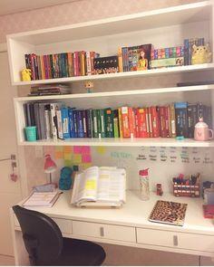 Home Office Desk Diy Schools 20 Best Ideas Study Room Decor, Cute Room Decor, Study Rooms, Room Decor Bedroom, Study Desk, Diy Bedroom, Bedroom Ideas, Home Office Desks, Office Decor