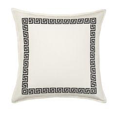 Found it at Wayfair - Greek Key Cotton Canvas Throw Pillow
