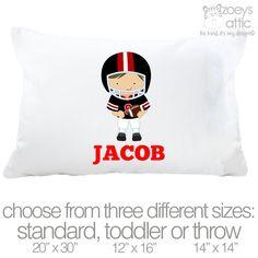 football-player-sports-theme-pillowcase