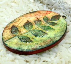 polymer clay faux ceramic pendants and beads | by cabinfeverclay