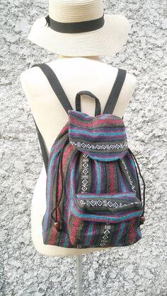 Backpack Aztec Tapestry Ethnic Ikat Tribal by TribalSpiritShop