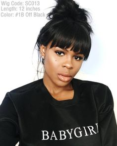 New Video Alert RIHANNA INSPIRED BOB / RPGSHOW WIG Go check her YouTube Channel  @aliyahmariabee @aliyahmariabee                She hits this messy yet chic high bun with her new bangs wig!  SUPER-DUPER COOL                   YAY or NAY???               1 Wig Code: SC013 2 Hair Length: 12 inches 3 Cap Construction: cap-3. Glueless Lace Cap 4 Hair Texture: Yaki  #rpgshow #rpgshowwig #rpgshowwigs #wigs #lacewigs #bangs #rihanna #hair #haircut #blackhair #blackhairissexy by rpgshowwig