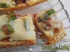 Pizza baguette - Πίτσα σε μπαγκέτα