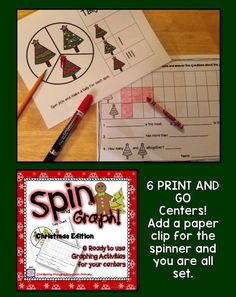 A PRINT and GO Christmas themed math center to practice graphing skills.
