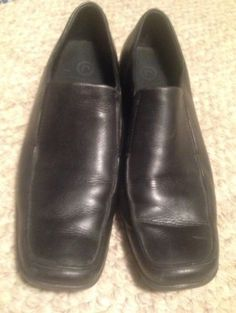Rockport Womens Leather Loafer Shoe Black Size US 9 M