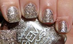 "My NYE nail polish- Sally Hansen Gem Crush in ""Big Money"".  Perfection on my stubby nails :)"
