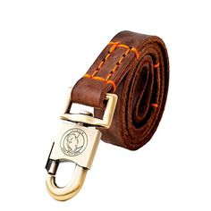 Heart Luxury Handmage Leather Dog Leash Dog Lead For Large Dogs Brown4Feet1inch * Details can be found by clicking on the image.