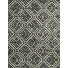 Safavieh Hand-made Soho Grey Wool Rug (8'3 x 11')