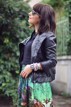 streetstyle Black Rainbow Chamilia bracelets accumulation armswag jupe Asos boots Valentine Helloitsvalentine