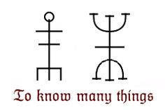 "justins-galdrastafir: "" This one is my tidied up version of one galdrastafur, a stave (symbol) from the manuscript LBS 4627 8vo, page 61. The words on it read: ""Að vita margt, rist þessa stafi á..."