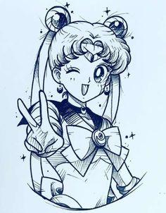 Sailor Moon Tattoos, Sailor Moons, Sailor Moon Manga, Arte Sailor Moon, Sailor Moon Kristall, Tattoo Drawings, Art Drawings, Tattoo Sketches, Manga Tattoo